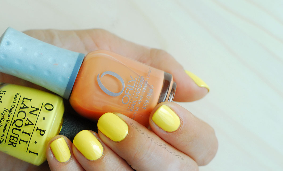 opi yellow nails