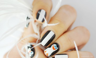 penguins of madagascar skipper nail art
