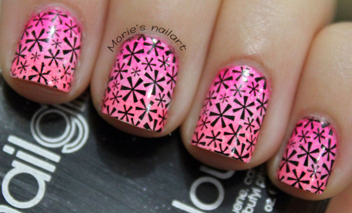 pink black Morie s Nailart guest nails for Seasonails
