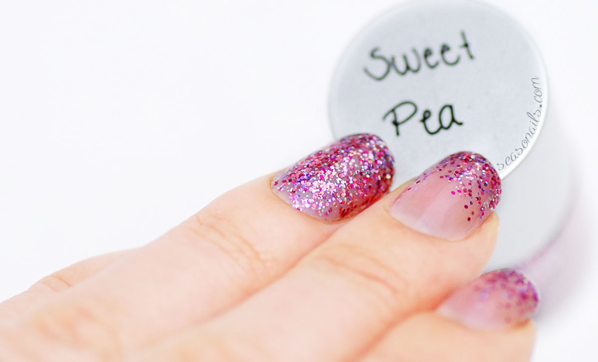 pink glitter gradient nails FGT indie polish Seasonails