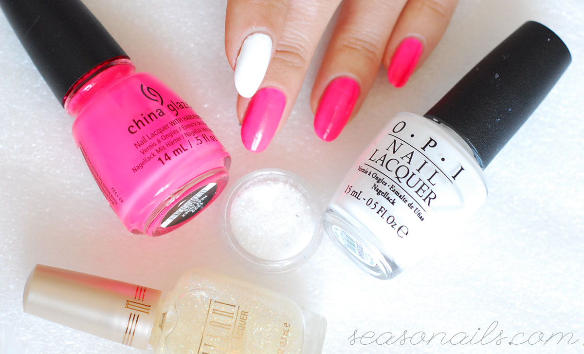 pink neon summer nails how to