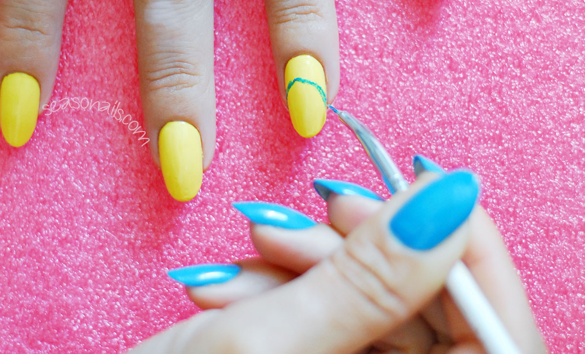 pixar inside out movie nails step by step