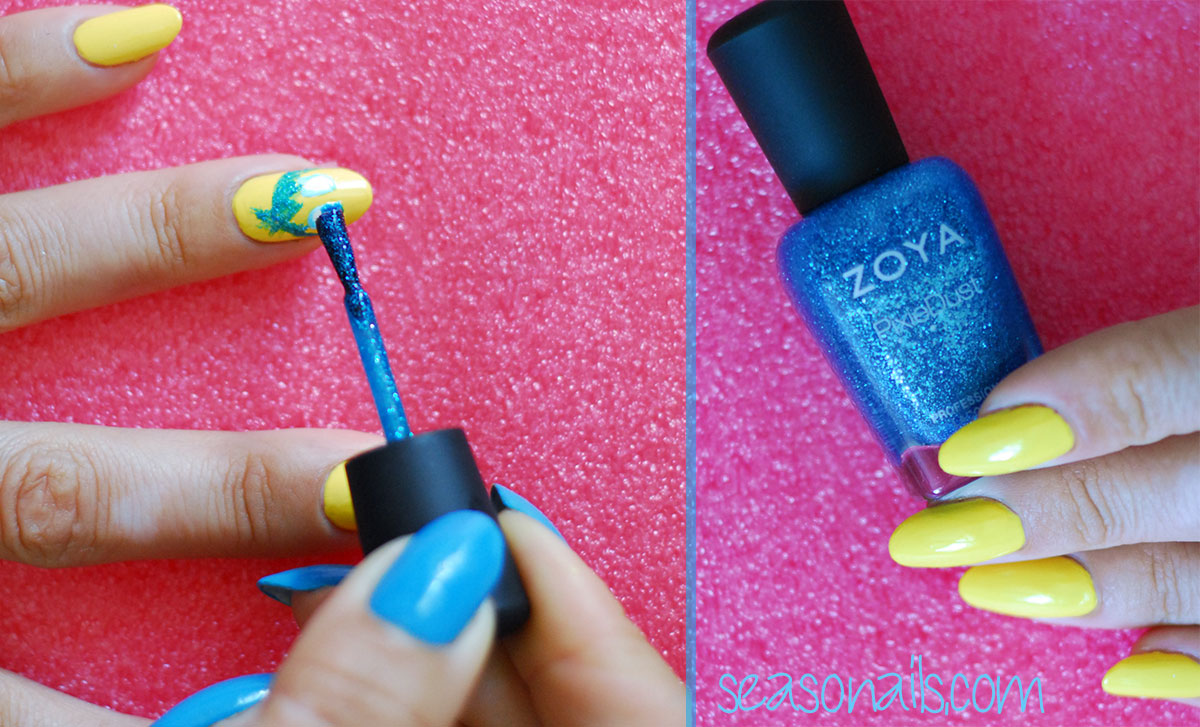 pixar inside out movie nails tutorial zoya pixie dust