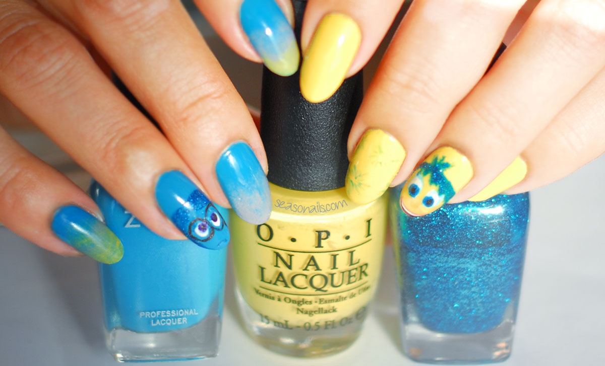 pixar inside out movie nails