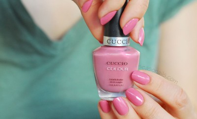 powdery pink nail polish cuccio turkish delight