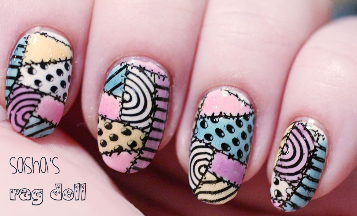 rag doll stamped nails