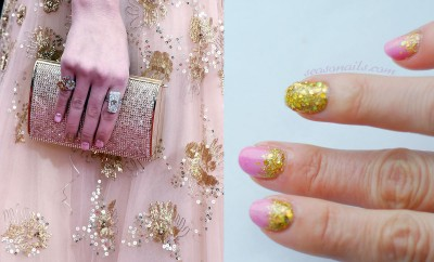 red carpet nails miss golden globes