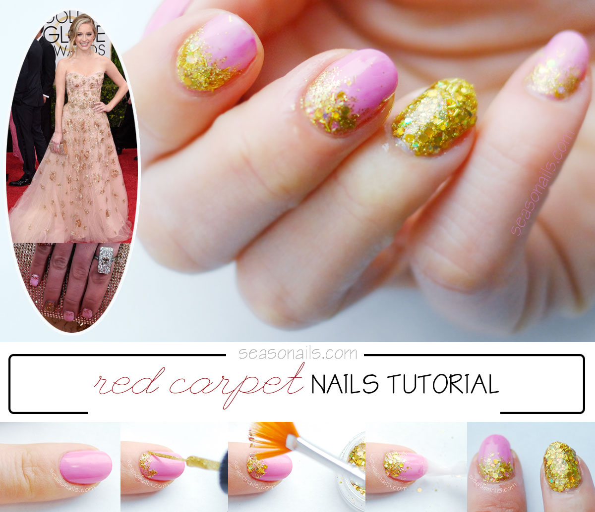 red carpet nails tutorial