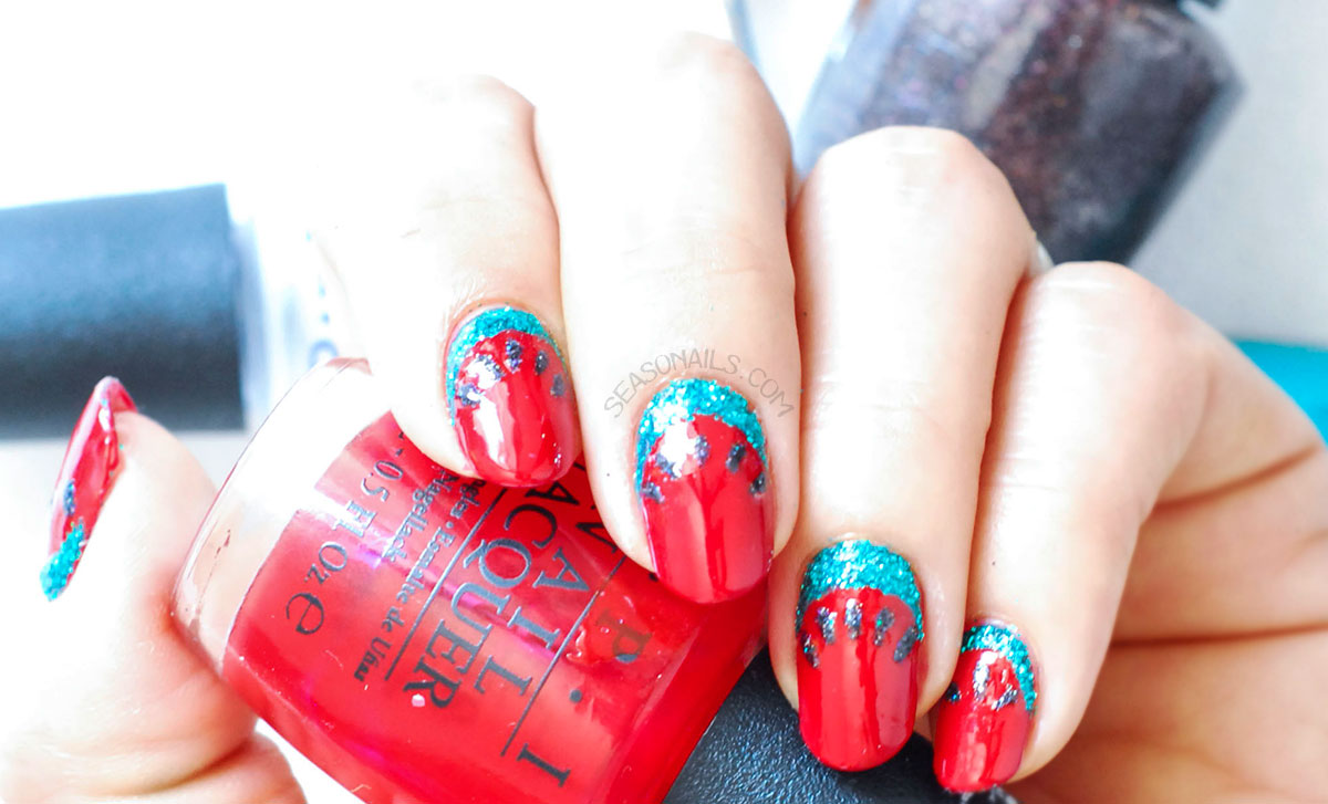 red hot rio opi watermelon nails