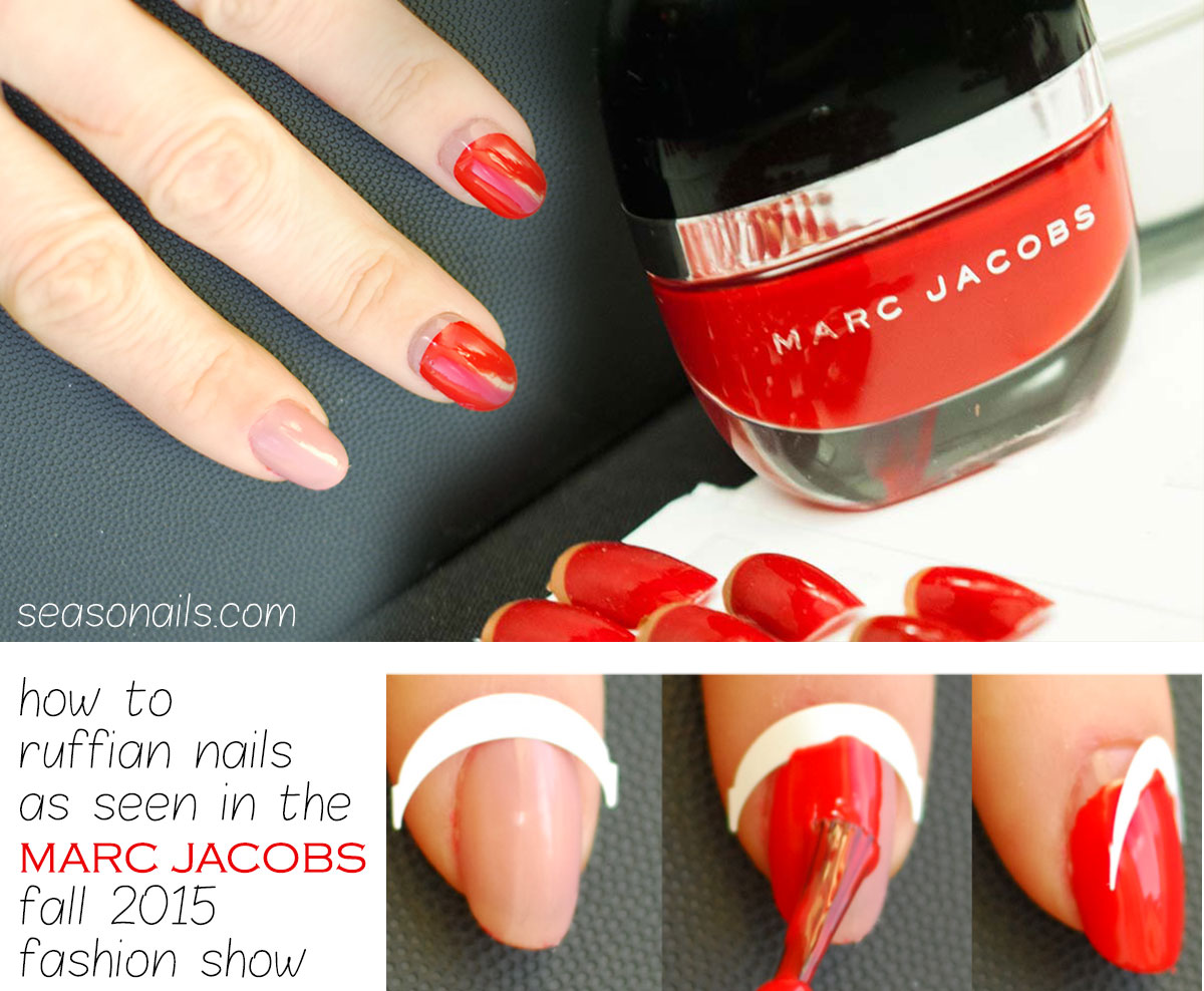 ruffian nails marc jacobs fall 2015 fashion show