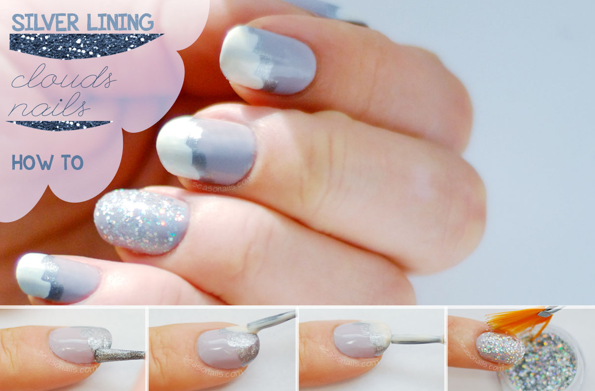 silver lining clouds nails how to