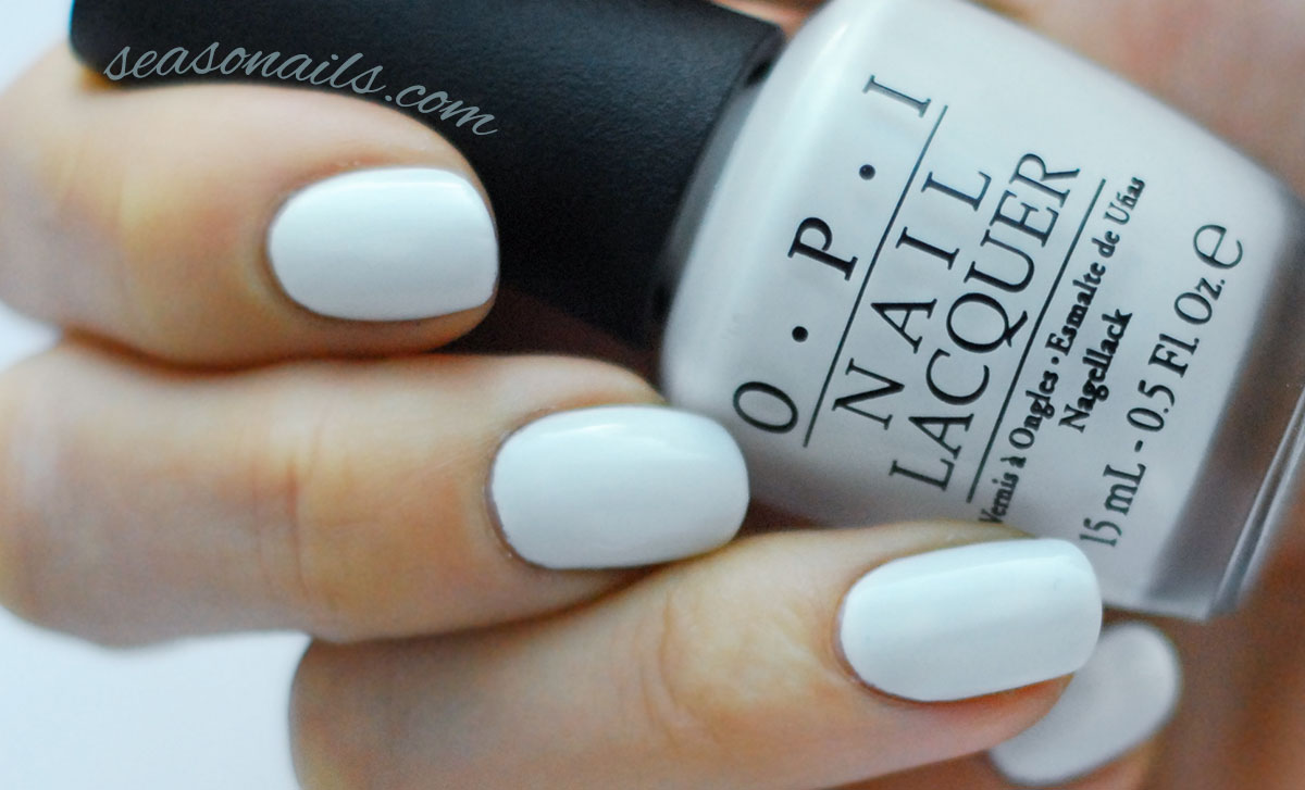 solid white OPI Alpine Snow