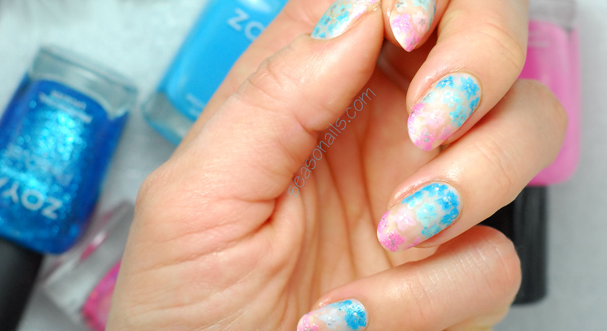 spring easter pastel flowers nails