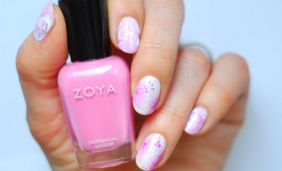 spring flowers nails valentines day