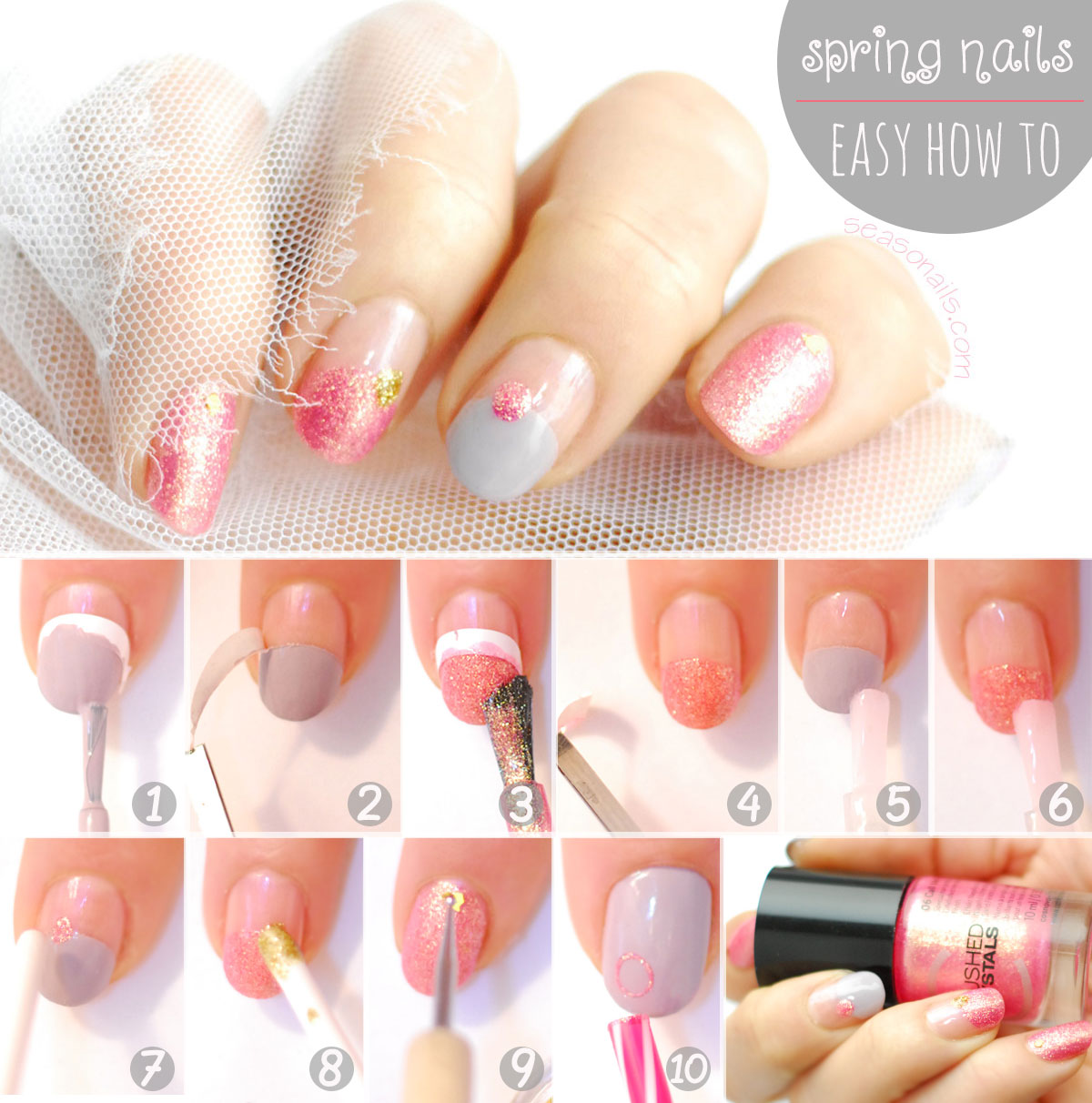 spring nails easy tutorial