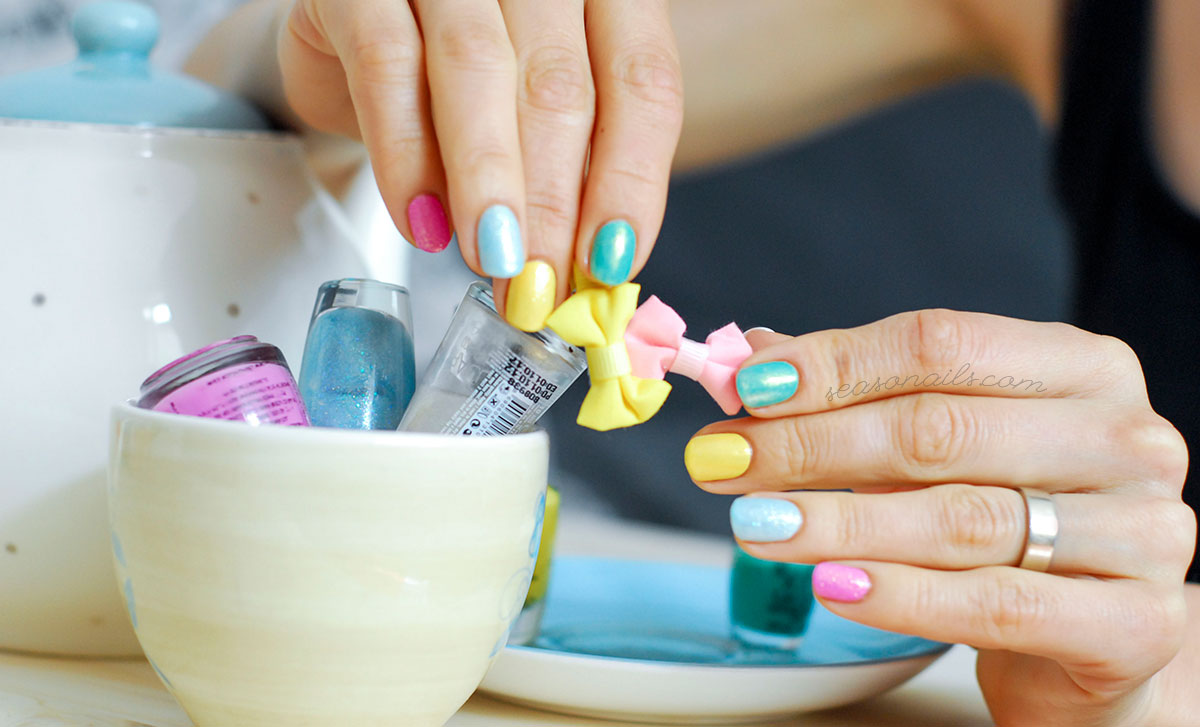 spring summer colorful easy nails