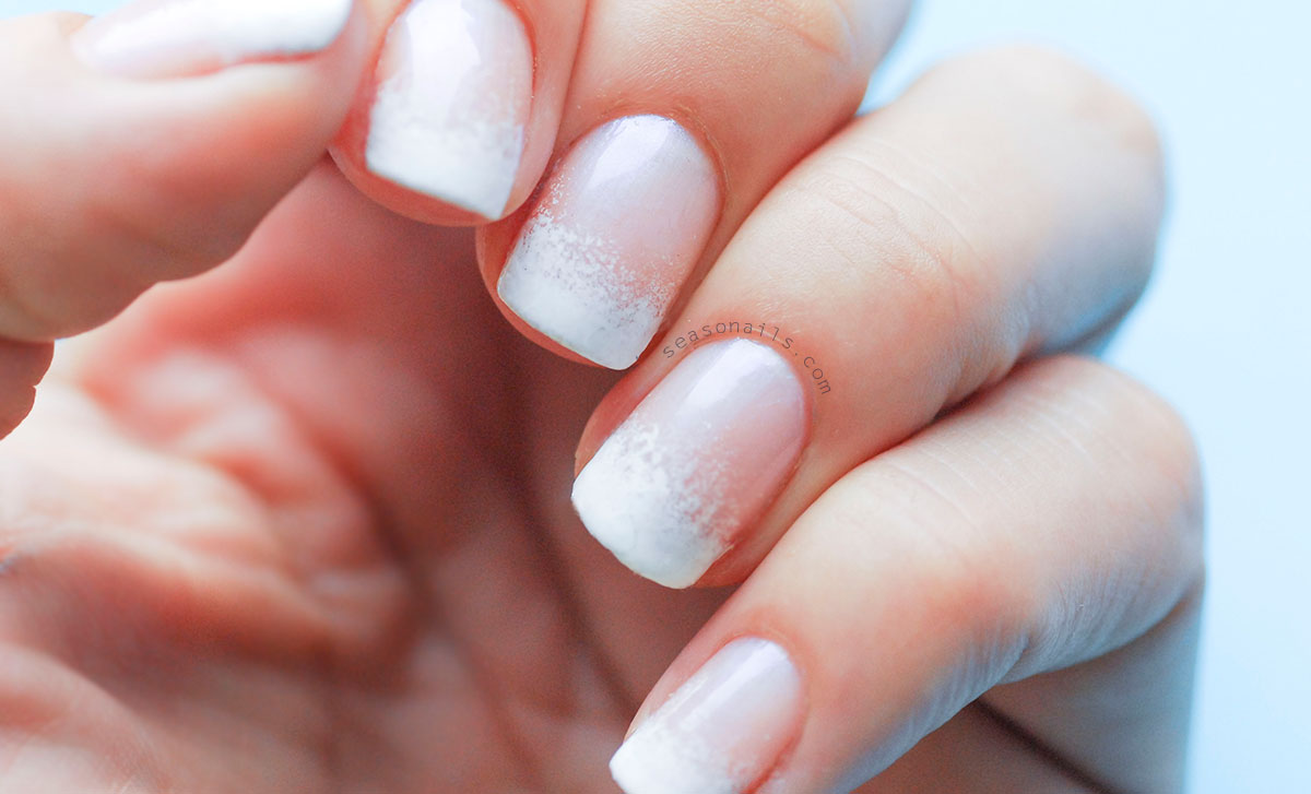 square nails french gradient manicure
