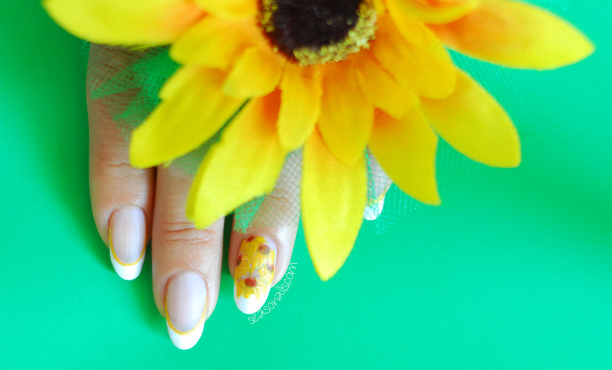 sunflower summer nails