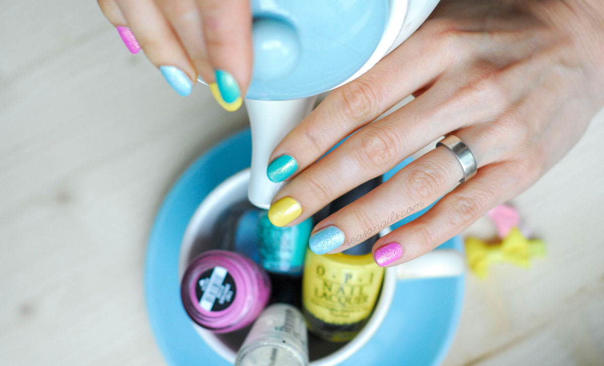tea time colorful nails easy nail art