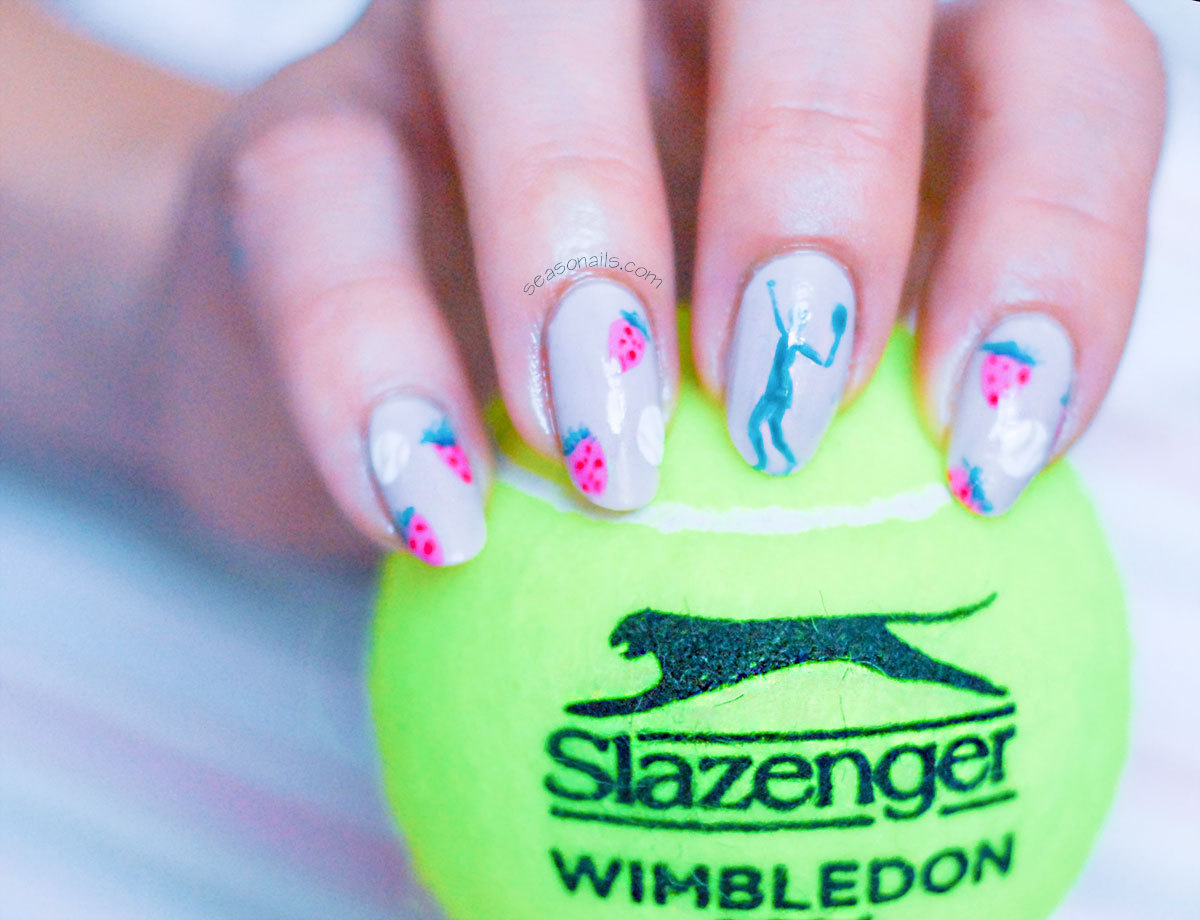 tennis nails wimbledon strawberries cream