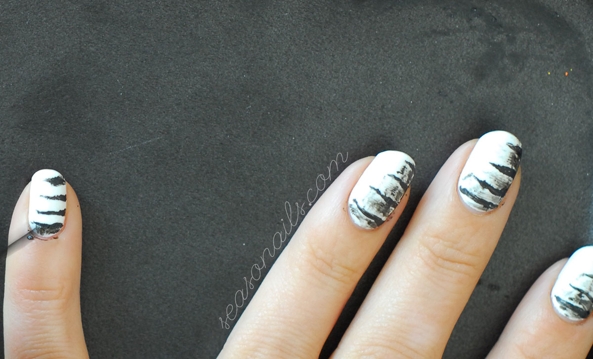 using the dry brush technique for nail art