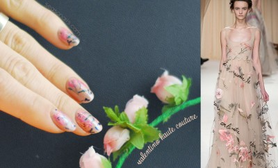 valentino fashion show nails