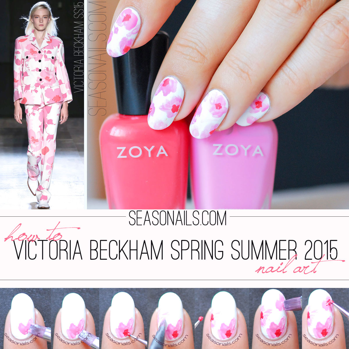 victoria beckham summer 2015 nails tutorial