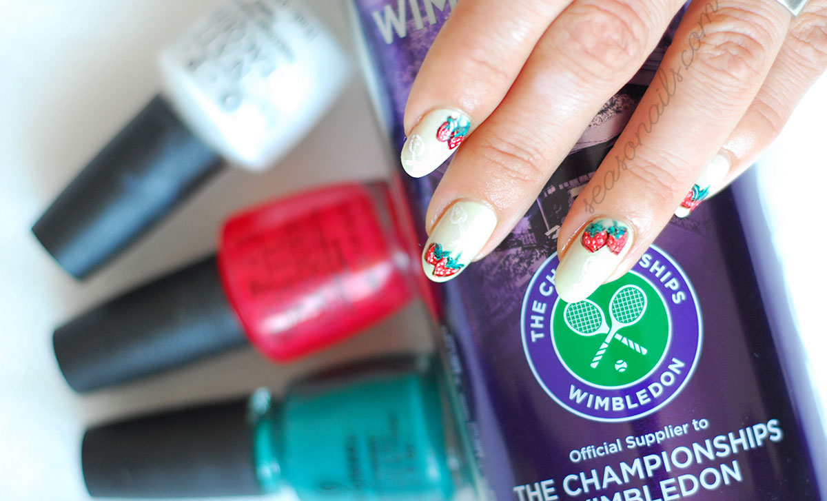 wimbledon tennis strawberries cream nails
