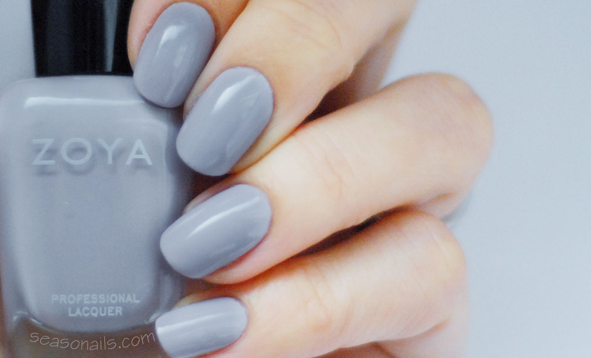 zoya kendal lavender nails for winter nail art
